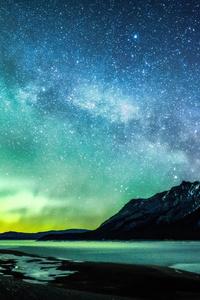 Aurora And The Milky Way Abraham Lake 8k