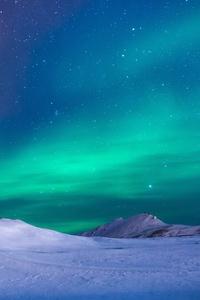 2160x3840 Aurora Northern Lights Stars 5k