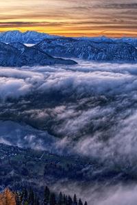 1125x2436 Austria Cloud Horizon Landscape Mountain Nature Panorama Shoot 4k