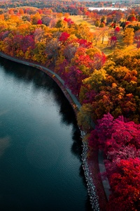 Autumn Lake Boundary Path