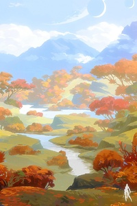 1125x2436 Autumn Trees 5k