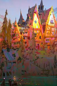 480x800 Autumn World Painting 4k