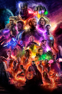 240x400 Avengers 4 Offical Poster Artwork 2019 5k
