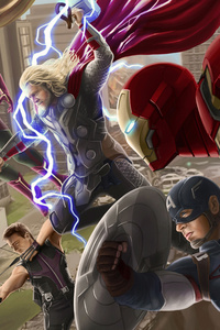 Avengers Age Of Ultron Artwork 10k