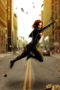 Avengers Age Of Ultron Black Widow Artwork