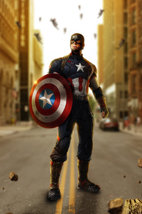 Avengers Age Of Ultron Captain America Artwork