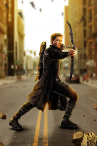 Avengers Age Of Ultron Hawkeye Artwork