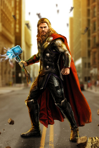 Avengers Age Of Ultron Thor Artwork