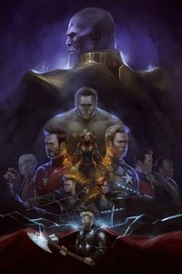 1080x2160 Avengers Art 4k
