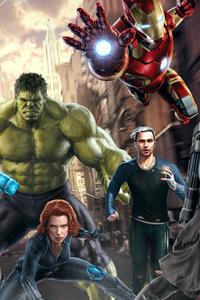 240x320 Avengers Art HD