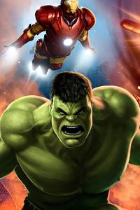 1080x2160 Avengers Assemble Art 4k