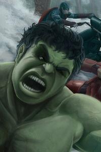 1080x2160 Avengers Assemble Fanart