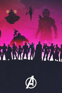 1242x2688 Avengers 4 2019