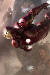 720x1280 Avengers Black Widow Hulk Iron Man