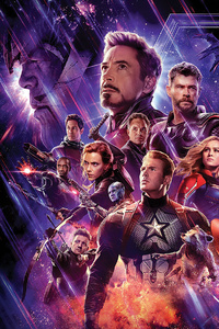 1080x2280 Avengers End Game 4k Banner