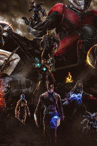 480x800 Avengers End Game Final Battle Scene