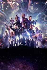 1080x2280 Avengers End Game New Poster