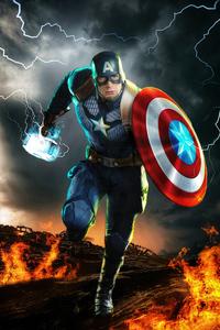 1280x2120 Avengers Endgame Captain America 4k