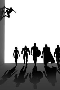1080x2160 Avengers Endgame Minimal