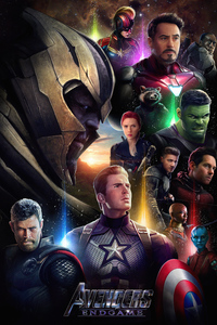 750x1334 Avengers Endgame Movie Poster Illustration 5k
