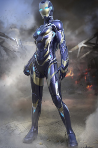 320x480 Avengers Endgame Rescue Suit Final Design 4k