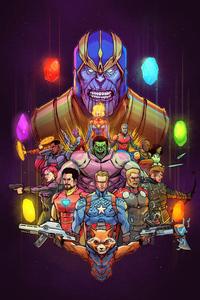 640x1136 Avengers Endgame Together