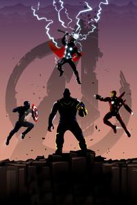 240x320 Avengers Endgame Trinity Art