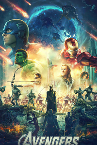 640x1136 Avengers Fan Made Poster
