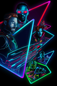 Avengers Infinity War 2018 80S Style Artwork