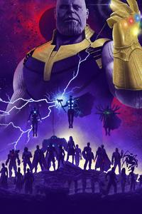 320x480 Avengers Infinity War 2019 Art