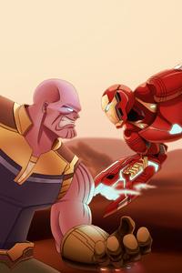 1280x2120 Avengers Infinity War 4k Art