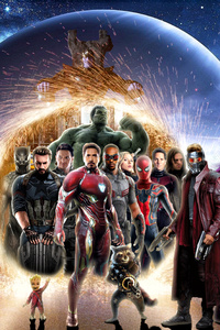 1125x2436 Avengers Infinity War 4k Poster