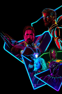 Avengers Infinity War 80S Style Artwork