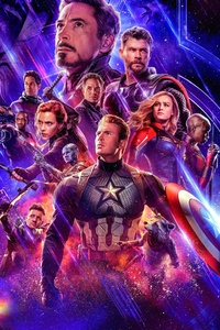 1080x2280 Avengers Infinity War And Endgame Poster