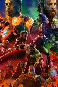 750x1334 Avengers Infinity War Artwork New