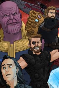 1080x2160 Avengers Infinity War Artwork