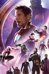 480x800 Avengers Infinity War Banner 4k