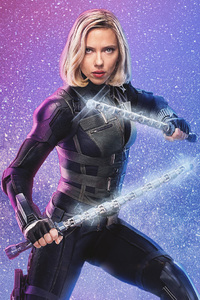 Avengers Infinity War Black Widow 4k