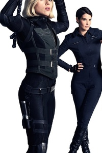 Avengers Infinity War Black Widow Gamora Valkyrie