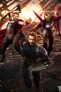 Avengers Infinity War Captain America Ironman Thor