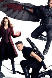 640x1136 Avengers Infinity War Doctor Strange Falcon Hawkeye Scarlet Witch