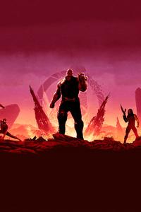 Avengers Infinity War Minimal Art