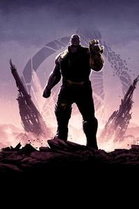 Avengers Infinity War Minimalism 8k