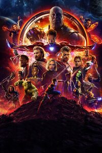480x800 Avengers Infinity War Official Poster 2018