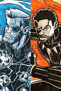 Avengers Infinity War Sketch Art