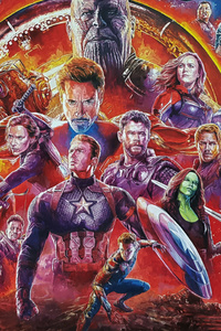 480x854 Avengers Infinity War Sketch Artwork