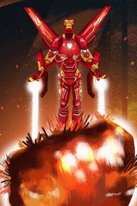 320x480 Avengers Infinity War Stone Art