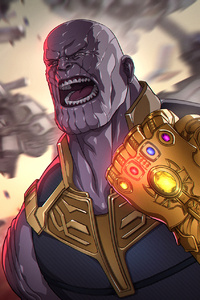 Avengers Infinity War Thanos Gauntlet Artwork