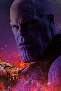 2160x3840 Avengers Infinity War Thanos With Gauntlet Infinity Stones
