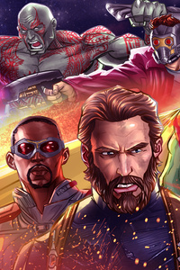 Avengers Infinty War 2018 4k Artwork